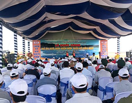 Lễ khởi công Nhà máy điện năng lượng mặt trời hồ Bầu Ngứ