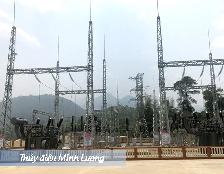 Trạm biến áp 110kv nhà máy thủy điện Minh Lương